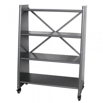4 TIER TAPERED METAL SHELF H.GRY シェルフ 高さ118