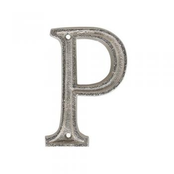 "METAL LETTER 105 SILVER ""P"" アルファベットオブジェ アルミ 高さ10.5"