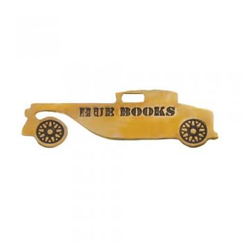 HUE BOOKS BOOK MARKER''ANTIQUE CAR'' ゴールド しおり 幅6.8