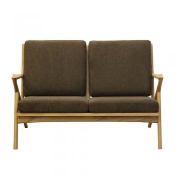 WOOD FRAME SOFA 2ST SPICE BROWN ソファ 2人掛け おしゃれ 幅130