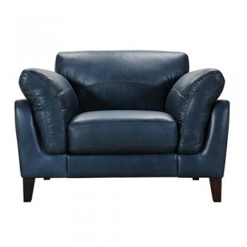 LEATHER SOFA 1 SEATER FRENCH NAVY ソファ 1人掛け 幅117