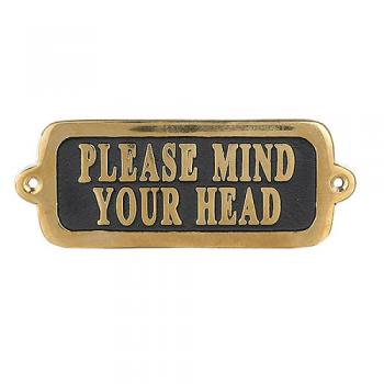 BRASS SIGN PLEASE MIND YOUR HEAD T2 サインプレート 幅14.3