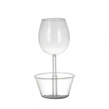WINE GLASS ''NUTS BOWL'' グラス  ボウル ガラス クリア 便利 高さ20