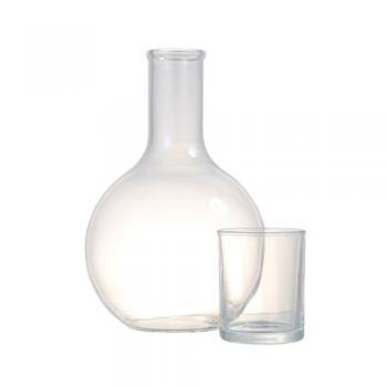 BALL CARAFE WITH CUP 2L 飲料 おしゃれ ガラス クリア 高さ26