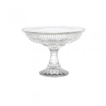GLASS COMPOTE ''MARGUERITE'' コンポート ガラス クリア 高さ13
