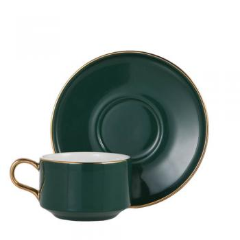 CUP&SAUCER Numelo 1 GREEN カップ ソーサー 食器 上品 直径11.5