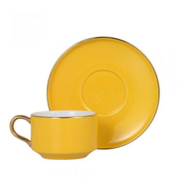CUP&SAUCER Numelo 1 YELLOW カップ ソーサー 食器 上品 直径11.5