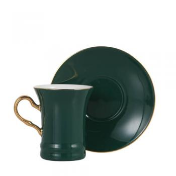 CUP&SAUCER Numelo 2 GREEN カップ ソーサー 食器 上品 直径19