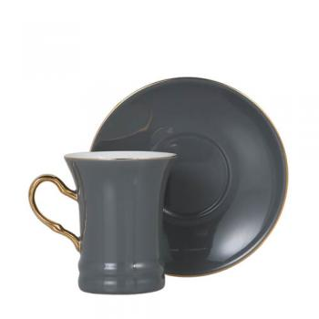 CUP&SAUCER Numelo 2 GRAY カップ ソーサー 食器 上品 直径19
