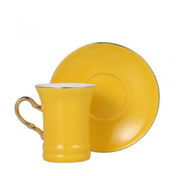 CUP&SAUCER Numelo 2 YELLOW カップ ソーサー 食器 上品 直径19