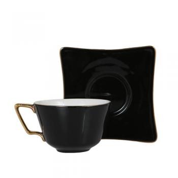 CUP&SAUCER Numelo 3 BLACK カップ ソーサー 食器 上品 高さ15