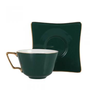 CUP&SAUCER Numelo 3 GREEN カップ ソーサー 食器 上品 高さ15