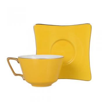 CUP&SAUCER Numelo 3 YELLOW カップ ソーサー 食器 上品 高さ15