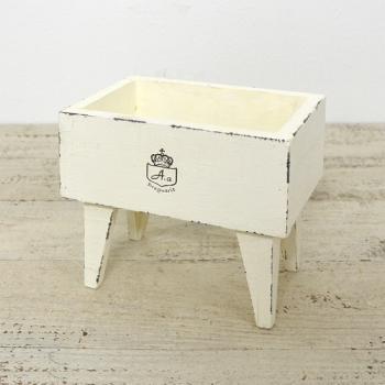 スタンドボックス 木製 ナチュラル ホワイト ガーデン雑貨 プランタースタンド プランター