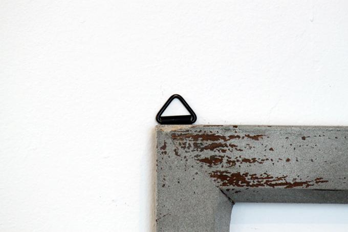 Petit monde ウィンドウフレーム ブルー 青 ディスプレイ 壁掛け 小窓 木製 窓枠