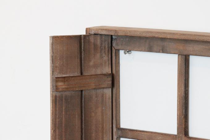 Petit monde ディスプレイウィンドウ ブラウン 茶 ディスプレイ 壁掛け 小窓 木製 棚