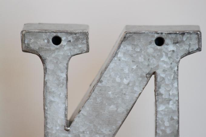 ブリキアルファベットオブジェN(2個セット)インテリア