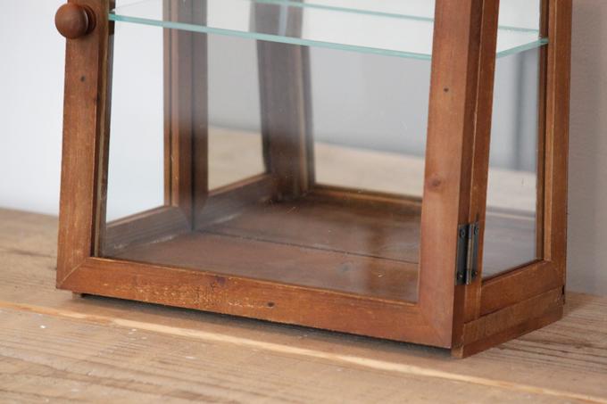 おしゃれ 茶 収納 ディスプレイ 木製 棚 ガラス