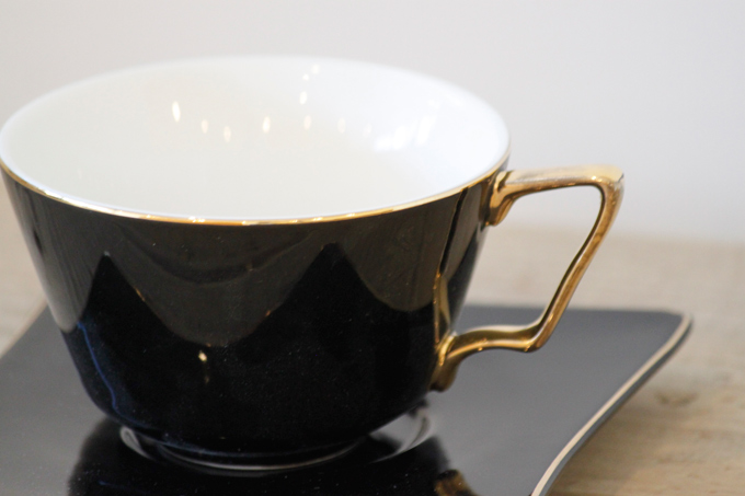 CUP&SAUCER Numelo 3 BLACK