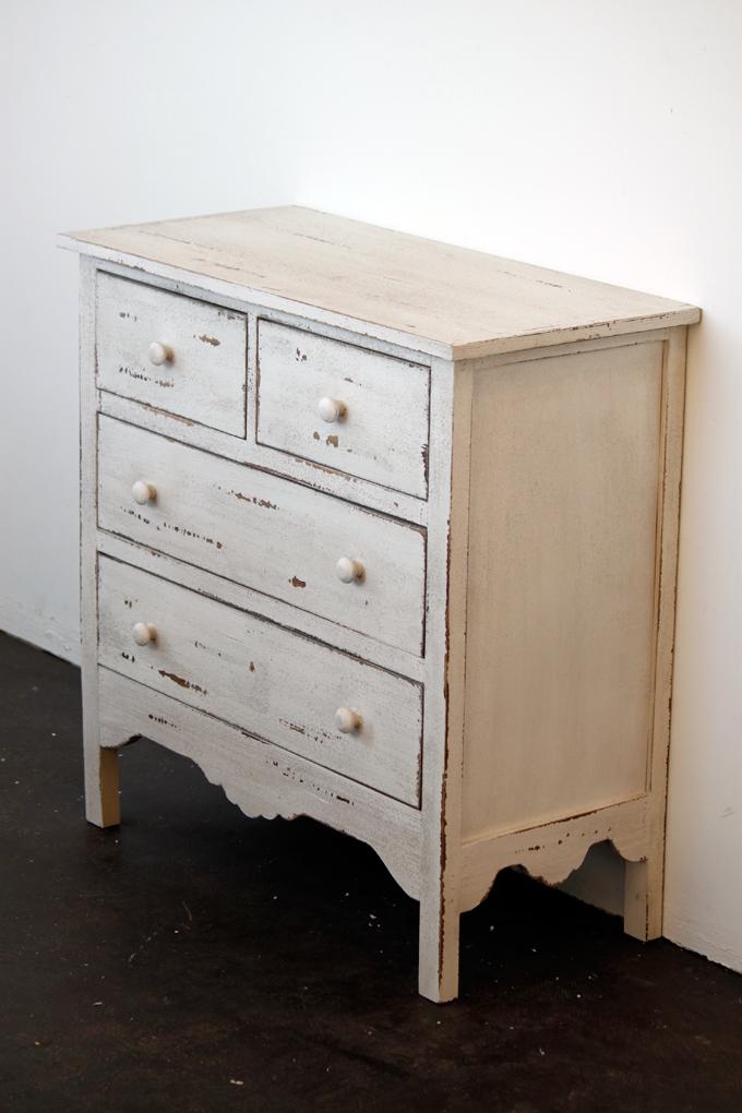 木製アンティーク調キャビネット シャビー