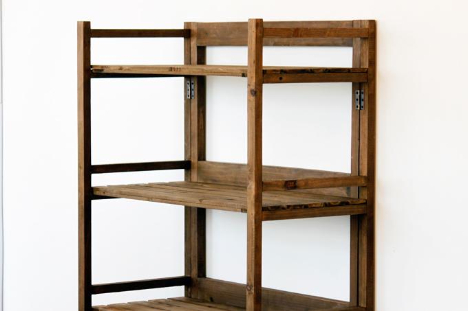 木製 ラック カントリー 5段