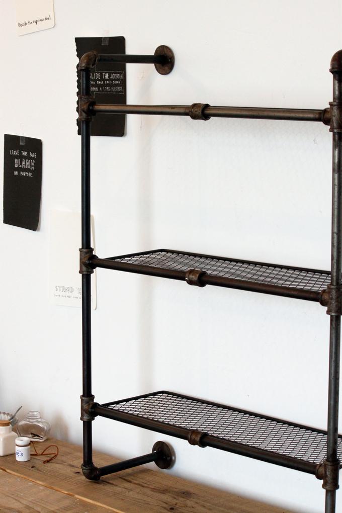 壁掛け ツール アイアン 収納 棚 インダストリアル