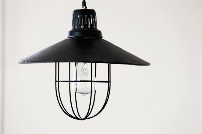 アンティークアイアンランプシェード シャビー 黒 グレー