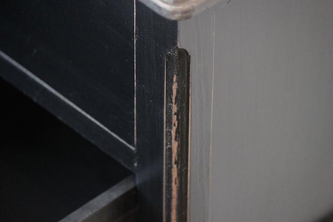 シャビーシックチェスト2ドロワー(黒 ブラック) アンティーク調 インダストリアル 棚