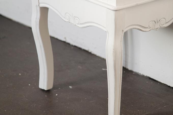 シャビーシックチェスト2ドロワー(白 ホワイト)木製