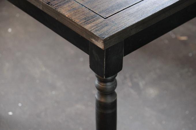 ブラックウッドSQUAREテーブル  シャビー