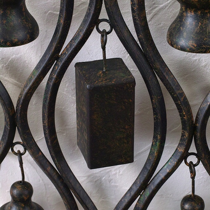 PATINA IRON WALL DECO BELL
