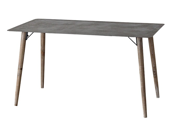 WOODEN&IRON SQUARE TABLE